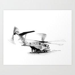 CH53E Super Stallion Art Print