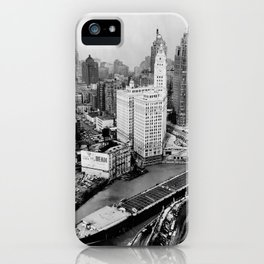 Largest travel Chicago River Chicago Illinois iPhone Case