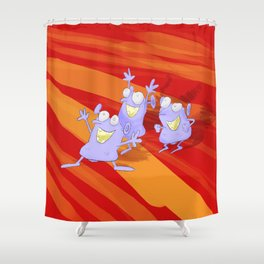 The joy of the idiotians Shower Curtain
