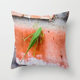 Leaf Bug Throw Pillow