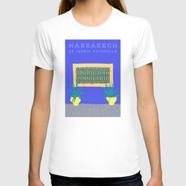 Le Jardin Majorelle, Marrakech (Marrakesh), Morocco Travel Poster T-shirt