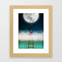 Reach for the Moon Framed Art Print
