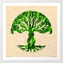 viviána tree of life, green gallery mandala Art Print