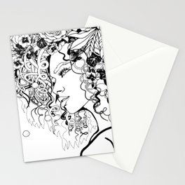 With Flowers in Her Hair No. 5 Stationery Cards