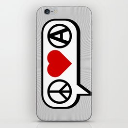 Peace. Love. Anarchy. iPhone Skin