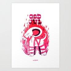 The Burning Goat of Gefle Art Print