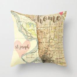 Love St. Joseph MO Throw Pillow