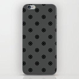 Dharma Wheel Pattern (grey) iPhone Skin