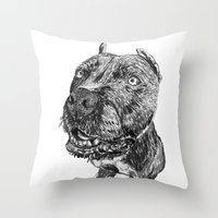hercules Throw Pillows featuring hercules 1 by Jenn Steffey