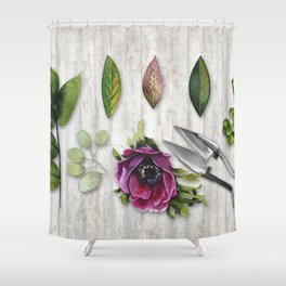 Botanica I Plants and Flowers Shower Curtain