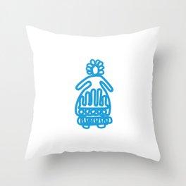 Snow Girl Throw Pillow