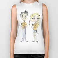 percy jackson Biker Tanks featuring Percy Jackson and Annabeth Chase by Trillatia