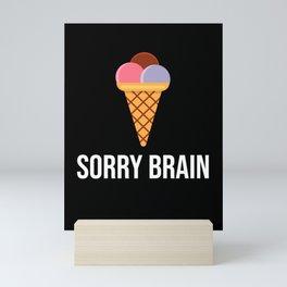 Ice Cream Freeze Brain Funny Mini Art Print