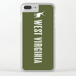 Deer: West Virginia Clear iPhone Case