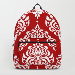 Red Damask Backpack