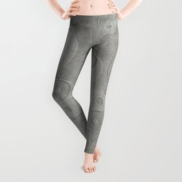 Yin and Yang Symbol embossed  concrete stone Leggings