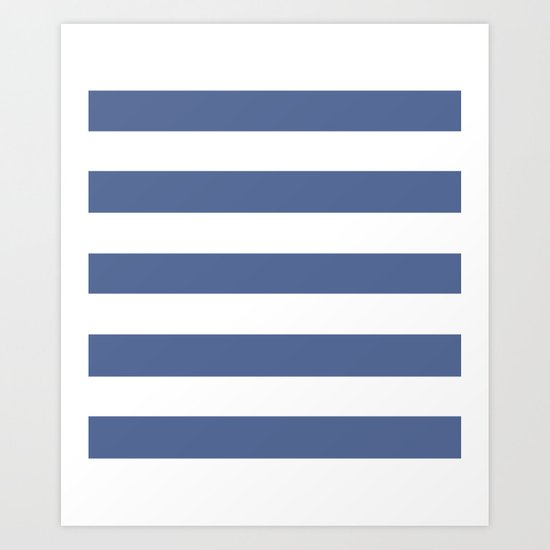UCLA blue - solid color - white stripes pattern by makeitcolorful