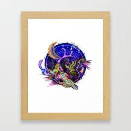 Lizard at the Dance Framed Art Print