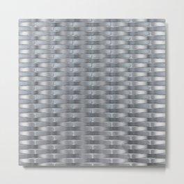 Woven_001 Space Grey Metal Print