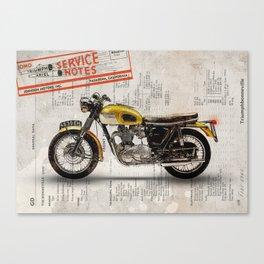 Triumph Bonneville T120 1964 Canvas Print