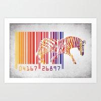 zebra Art Prints featuring zebra  by mark ashkenazi