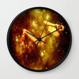 Golden Galaxy Woman : Nude Art Wall Clock