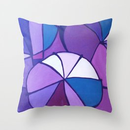 Purple Sections Throw Pillow
