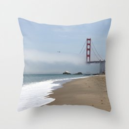 Another Foggy Day In San Francisco Throw Pillow