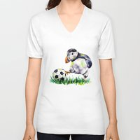 football V-neck T-shirts featuring Football by Anna Shell