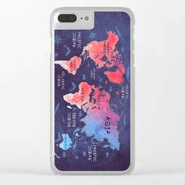 world map 44 Clear iPhone Case