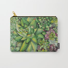 Watercolour Succulents Carry-All Pouch