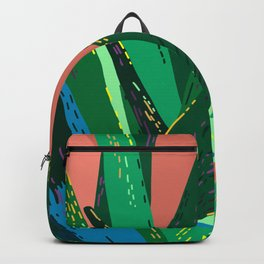 I Don't Bite (Much) - Tropical Cactus Succulent Illustration Backpack