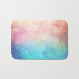 Fire and Ice - Watercolor Painting Bath Mat
