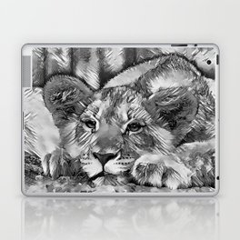 AnimalArtBW_Lion_20171205_by_JAMColors Laptop & iPad Skin