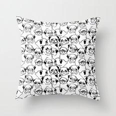 Oh Pugs Throw Pillow