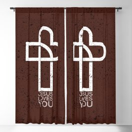 Jesus Loves You Blackout Curtain