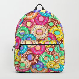 Donuts Punchy Pastel flavours Pattern Backpack