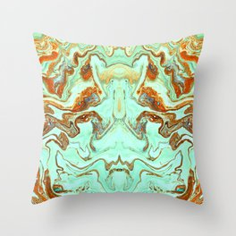 liquid no19.2 Throw Pillow