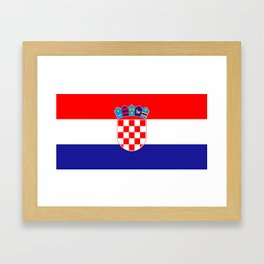 Flag of Croatia Framed Art Print