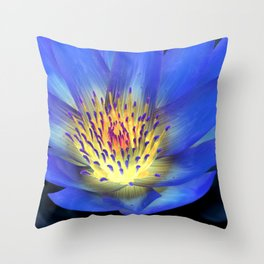 Purple Pinch Throw Pillow