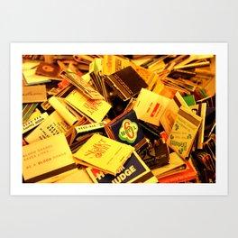 Box of Matches Art Print