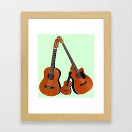 Acoustic instruments Framed Art Print