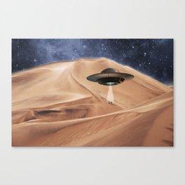 ALIEN DESERT ABDUCTION Canvas Print