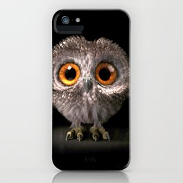 Super Adorable Little Cartoon Owl With Big Eyes Ultra HD iPhone Case