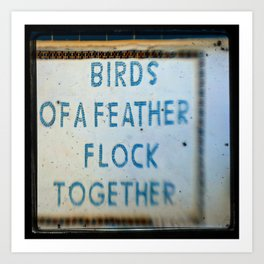 Let's Flock Art Print
