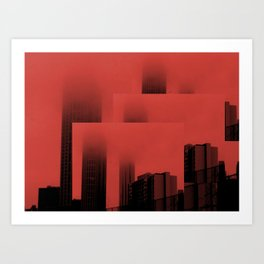 Trippy City Art Print
