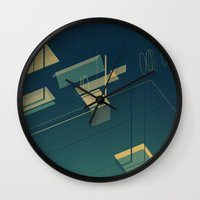pool Wall Clocks featuring Pool by Maxime Chillemi