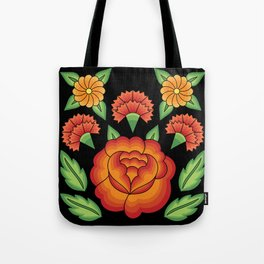 Mexican Folk Pattern – Tehuantepec Huipil flower embroidery Tote Bag