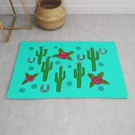 Cactus Rose in The Desert Rug