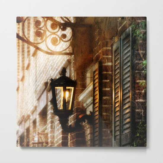 Meet Me By the Dull Pallor of an Old Gas Light Metal Print